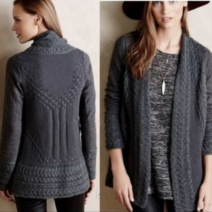 Knitted & Knotted Anthro Sz Lg Cardigan